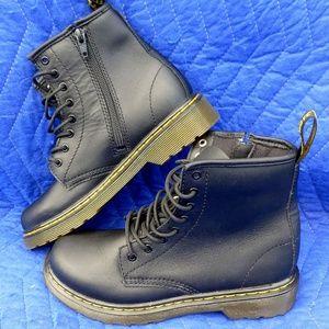 Dr Martens Black Lace Boots w/Zip Side - Size 3